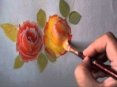▶ Rose painting - a simple way - YouTube