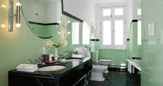 Linley Suite art deco bathroom @ Claridges