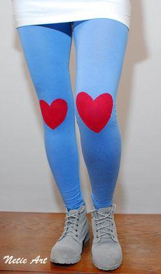 Red heart leggings!