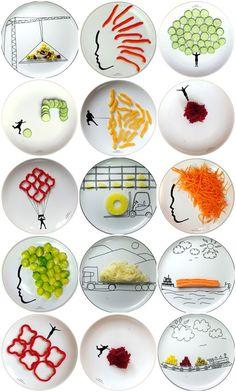 Boguslaw Sliwinski y sus platos divertidos - fun plates
