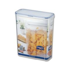Lock Slender BPA Free Food Storage Container with Leak Proof Locking Lid, 17.9-Cups, 143 Fluid Ounce by Lock $8.99. Ideal for storage of flour, sugar, rice, cereal and other dry goods. Excellent airtight and watertight. Made from highest quality bpa free material for strong durability and safety. Microwave, freezer & top rack dishwasher safe. Patented 4-hinge locking system with silicone sealing ring eliminates leaks and spills. These are the most pu...