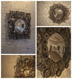 Mirrors have been made from pieces of steel garbage include bicycle, car parts or some industry machines or daily house tools. Style is done in Steampunk style and with not literal beauty, mirrors can be a great decoration and practical in exclusive loft, flat or bar and restaurants.…