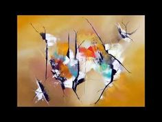 Abstract painting demo - Démonstration peinture abstraite (9) Althea - YouTube