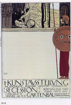 Beautiful poster from Vienna - just love Art Nouveau