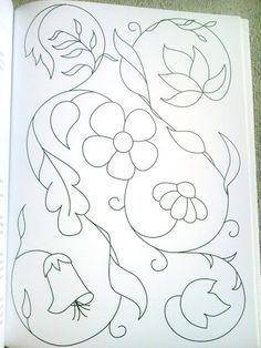 bordado mexicano patrones - Yahoo Image Search Results Más Wool Applique, Applique Patterns, Craft Patterns, Beading Patterns, Quilt Patterns, Mexican Embroidery, Crewel Embroidery, Beaded Embroidery, Floral Embroidery
