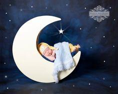 28 Wooden Moon Photography Prop w/ Built by TwinkleStarPhotoProp