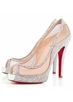 Stunning Suede Stiletto Heel Peep Toe Party/Evening Shoes With Rhinestones