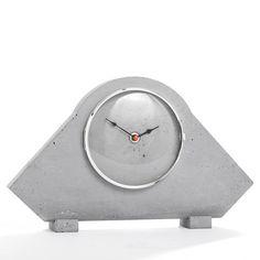 Uhren - Kaminuhr aus Beton, moderne Buffetuhr - ein Designerstück von D-Kraehmer bei DaWanda