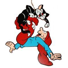 Bramming nisserne er mere end 100 år og er populære som aldrig før, fåes i flere varianter - Nisse med kat. blå trøje...