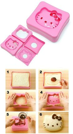 Hello Kitty sandwich maker! Oh my heck!!! I want one!!#Repin By:Pinterest++ for iPad#