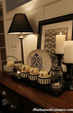 Black and white stylish Halloween home decorations - Halloween Costumes 2013
