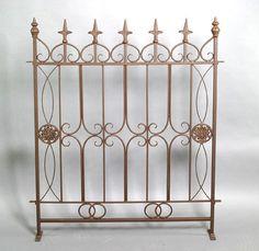 Stilvolles Zaunelement Eisen Zaun rost 87 cm MARSEILLE Gartenzaun in Garten & Terrasse, Zäune & Sichtschutzwände, Metallzäune | eBay