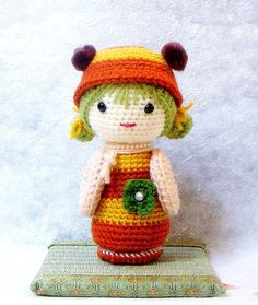 B Bee - Crochet Kokeshi doll