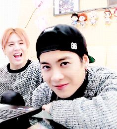 A cute gif of Jackson with an even cuter Yugyeom :3