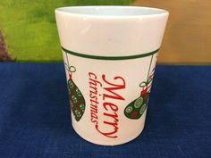 "Vintage Porcelain Christmas Mug Cup ""Merry Christmas""  Hanging Ornaments For Christmas Royal Norfolk by AdoptAKeepsake on Etsy"