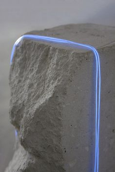 jessica melling Compression Forces with Neon, 2014 Limestone and Neon Installation