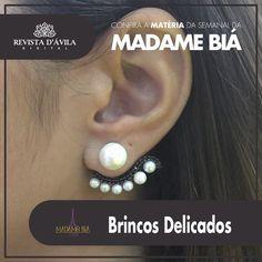 Brinco super delicados você encontra na Madamde Biá. Acompanhe na Revista DÁvila as matérias semanais da Madame Biá e também de todos os outros parceiros. http://ift.tt/1UOAUiP (link na bio).