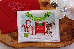 Nichol Spohr LLC: Simon Says Stamp December 2016 Card Kit | Merry & Bright Greetings Card + GIVEAWAY