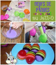 Les meilleurs trucs d'Eugénie pour réussir des oeufs au Jello multicolores.
