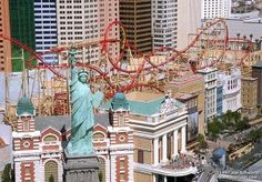 Do you like roller coasters?  When you are in Las Vegas you must visit the New York New York Hotel and ride the Manhattan Express Roller Coaster.