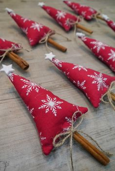Cinnamon stick tree ornaments