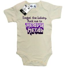 Dirty Fingers, Forget the Lullaby, Rock me to Heavy Metal, Baby Bodysuit: Amazon.co.uk: Clothing