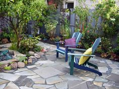 How to Create a Mosaic Patio using stone, pebbles, decomposed granite and dry mortar, you can build a patio surface that's uniquely yours.
