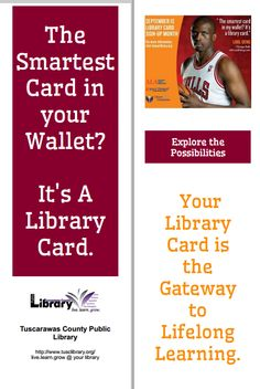 Bookmark from Tuscarawas County Public Library