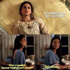 I knew that when Spencer Hastings couldn't answer a question something important was about to happen. Spoby ❤️