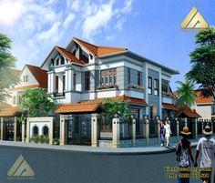 Mẫu thiết kế nhà đẹp biệt thự phong cách hiện đại sang trọng. http://www.kientrucadong.com/mau-biet-thu-dep-hien-dai-2-tang-o-tp-quang-ninh-635-99.html