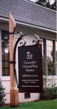 look at that.....! So simple, but really stylish and adds a touch of class..... Real Estate Signs, Entrance Sign, Mailbox Post, Office Signs, Farm Signs, Outdoor Signs, Street Signs, Shop Signs, Sign Design