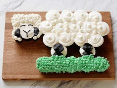 Easter. Little Lamb Pull-Apart Cupcakes Recipe : Food Network Kitchen : Food Network - FoodNetwork.com