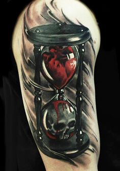 Realistic Time Tattoo by U Gene | Tattoo No. 12472