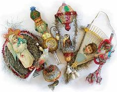 The Joy of Nesting: Dresden Paper Doll Ornaments : A Tutorial