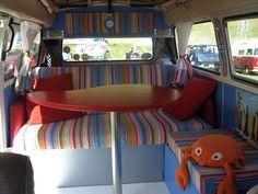 Deckchairstripes - The Gallery: Camper Van Interior - Baseball striped fabric