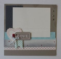 Holly Created A Lovely 8x8 Scrapbook Page She Used Hearts Flutter Its Framelits