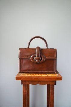 Vintage Leather TopHandle Handbag  1950s by SunnywoodVintage, $62.00