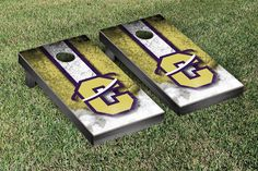 Carroll College Fighting Saints Vintage Stripe Cornhole Tailgating Game