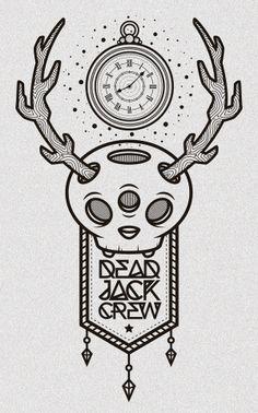 Dead Jackalope Crew! by Pablo Ramos, via Behance