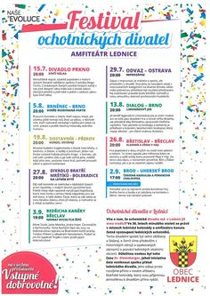 Theatre Festival at Lednice Amphitheatre Theatre, Bullet Journal, Events, Theatres, Theater
