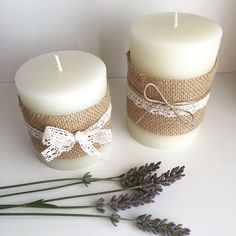 Infinite Weddings - Online Wedding Suppliers Directory, Guide and Platform Wedding Unity Candles, Diy Candles, Pillar Candles, Handmade Crafts, Diy And Crafts, Baptism Candle, Christmas Candles, Candle Set, Diy Craft Projects