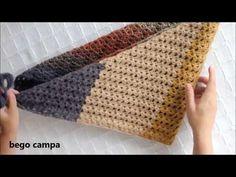 Afbeeldingsresultaat voor bufanda triangular a crochet ravelry Crochet Shawls And Wraps, Crochet Poncho, Chrochet, Diy Crochet, Knitting Projects, Crochet Projects, Prayer Shawl Patterns, Design Youtube, Crochet Videos