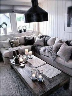 20 fantastic grey living rooms - The Grey Home by Malla