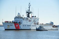 US Coast Guard Cutter Forward d transits toward its homeport of Portsmouth, Va., Feb. 28, 2016. Image: U.S. Coast Guard, Petty Officer 1st Class Melissa Leake. Cutter Forward is a 270-foot medium-endurance cutter home-ported in Portsmouth, Virginia, that operates in the Atlantic Ocean, Caribbean Sea and Gulf of Mexico for the commander of Coast Guard Atlantic Area.