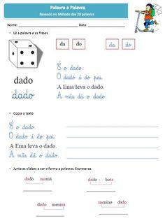 método das 28 palavras fichas - Pesquisa Google Map, School, Julia, Motocross, Romance, Reading Activities, Literacy Activities, Letter D, Note Cards