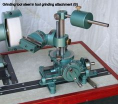 Plans for tool & cutter grinder. Includes comprehensive plans, instructions & 45 plus photos. Grinds milling tools, lathe tools & drills etc.