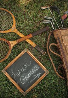 Vintage lawn games.