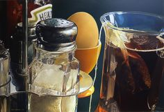 """Srainless"" - Tjalf Sparnaay {contemporary artist still life salt tea photorealism painting} Tjalf Sparnaay, Luigi, Hyper Realistic Paintings, Food Painting, Painting Art, Dutch Painters, Dutch Artists, Still Life Art, Art Graphique"