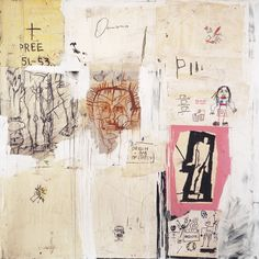 substancejournal: Jean-Michel Basquiat. Big Shoes. 1983. Acrylic, oil stick and collage on canvas.