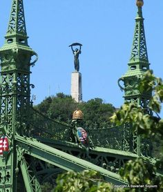 Liberty Bridge and Statue of Liberty on Budapest Gellert Hill Places Around The World, Around The Worlds, Budapest Travel Guide, Capital Of Hungary, Budapest Things To Do In, Most Beautiful Cities, Central Europe, Budapest Hungary, Places To Visit